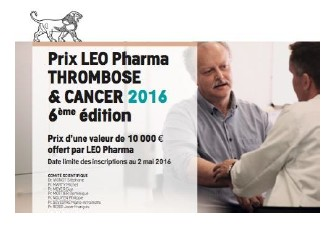 LEO Pharma lance son prix Thrombose et Cancer 2016