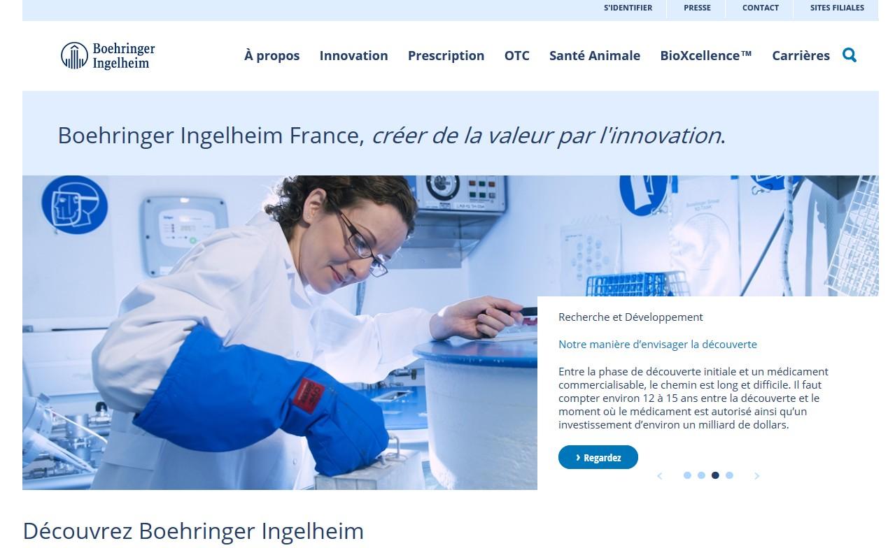 u00bb un nouveau site internet pour boehringer ingelheim