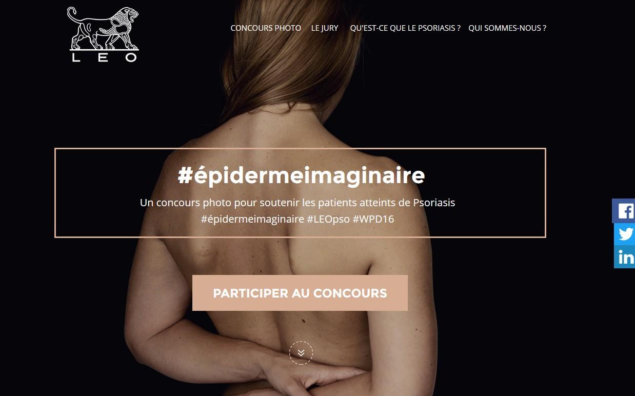 "Psoriasis : LEO Pharma organise un concours photo ""épiderme imaginaire"""