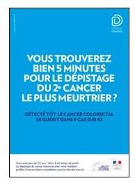 Cancer colorectal : une nouvelle campagne pour inciter au dépistage