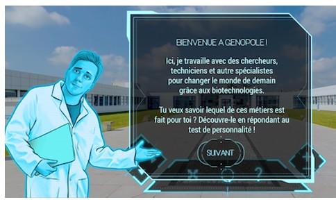 Un serious game pour explorer les biotechnologies et leurs métiers
