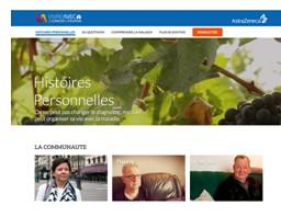 """AstraZeneca lance le site """"Vivre avec un cancer du poumon"""""""