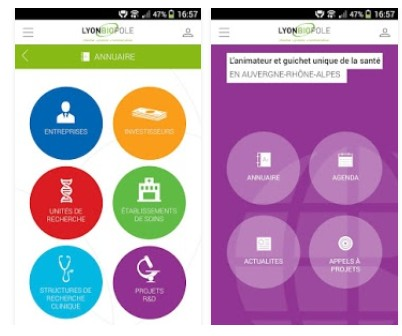 Lyonbiopôle lance son application mobile