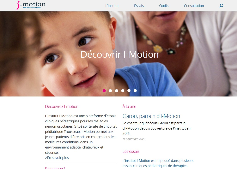 I-Motion, la plate-forme d'essais cliniques pédiatriques, lance son site internet