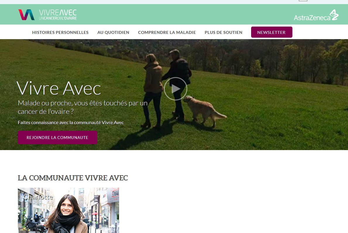 AstraZeneca lance une plateforme d'information sur le cancer de l'ovaire