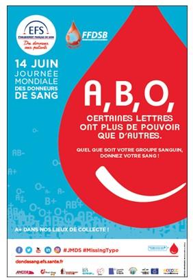 Journée Mondiale des Donneurs de sang – Affiche EFS