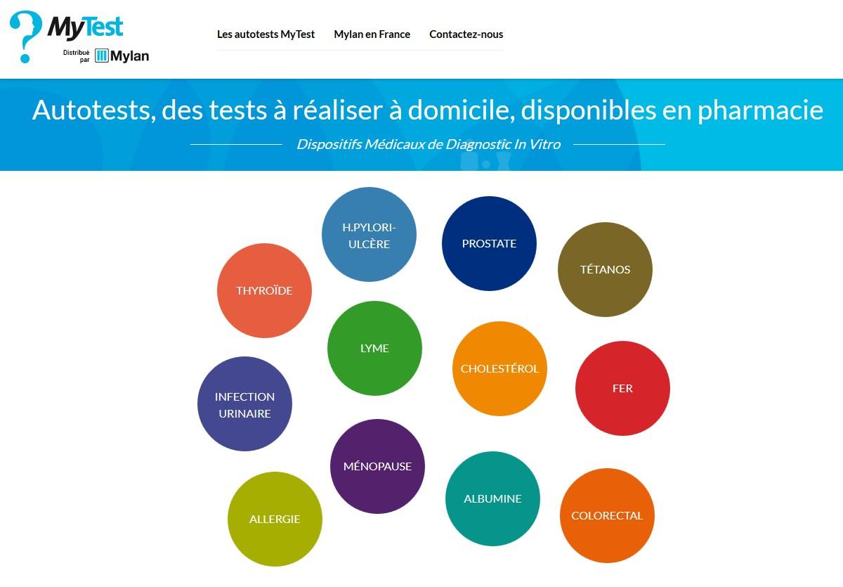 Mylan lance le site www.gamme-mylanmytest.fr