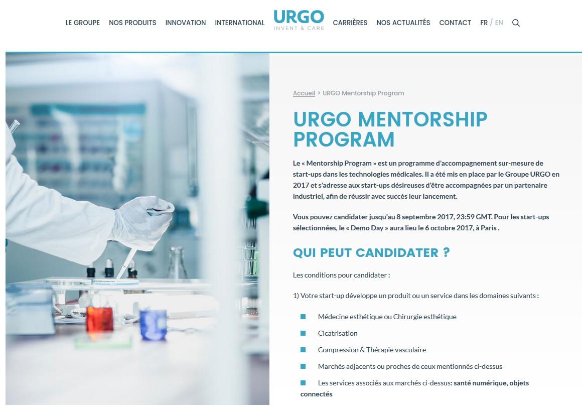 Technologies médicales : URGO déploie un programme d'accompagnement de Start-ups