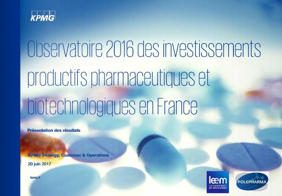 4ème Observatoire des investissements productifs pharmaceutiques et biotechnologiques en France
