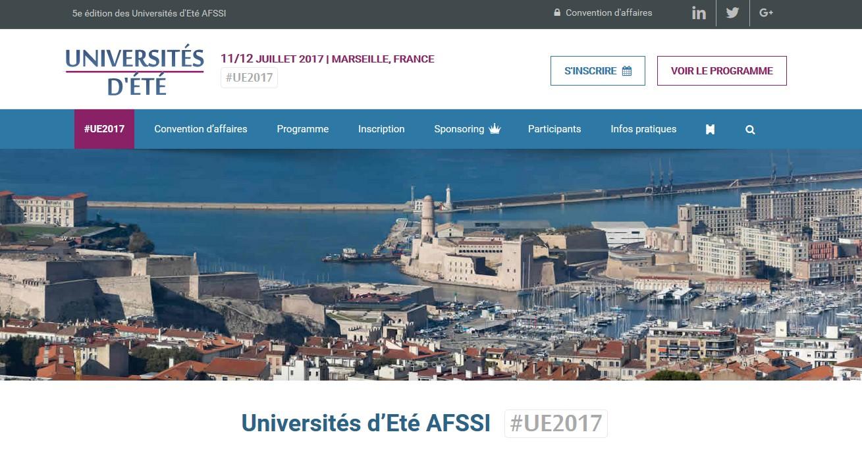 L'AFSSI organise aux côtés du pôle Eurobiomed ses 5èmes Universités d'été 2017 à Marseille