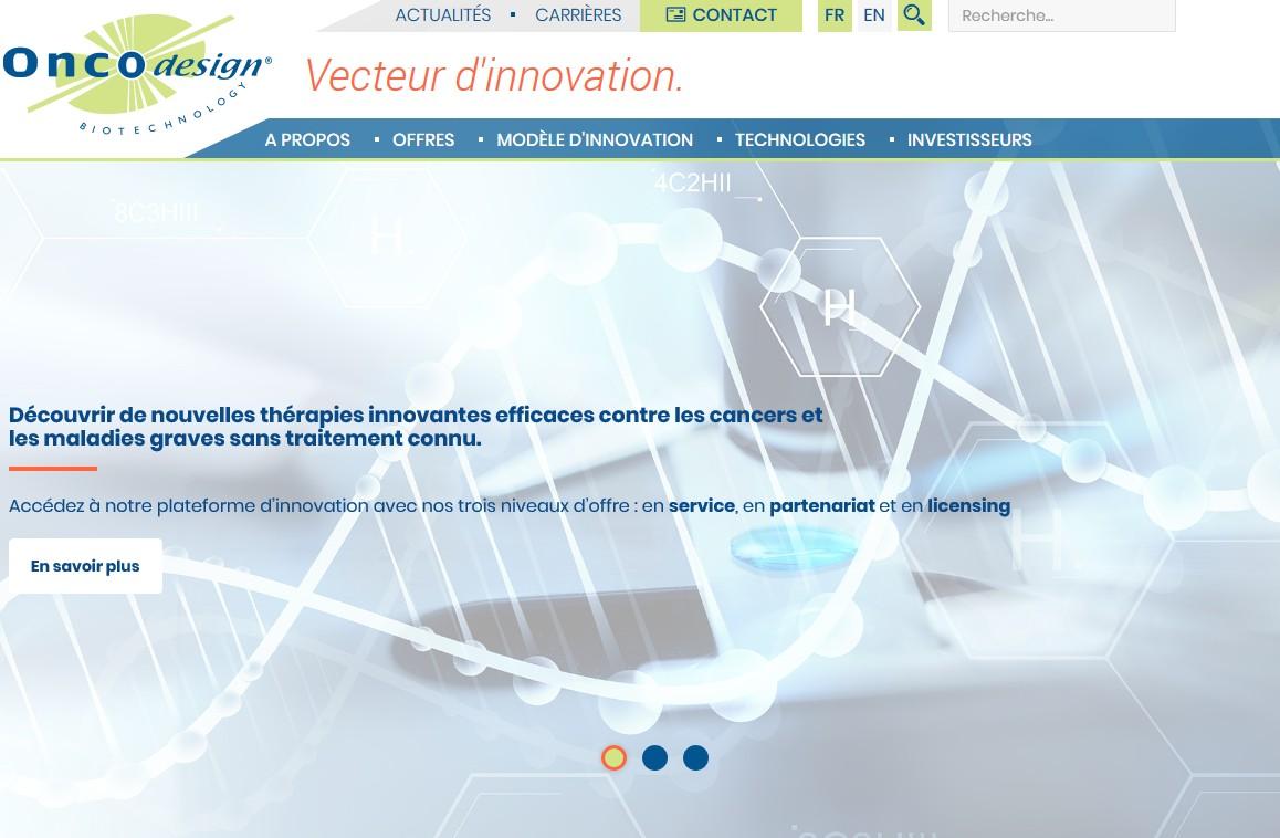Un nouveau site internet pour Oncodesign