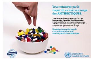 Semaine mondiale pour un bon usage des antibiotiques du 13 au 19 novembre 2017
