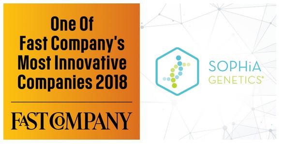 Sophia Genetics dans le top 10 des biotech les plus innovantes en 2018