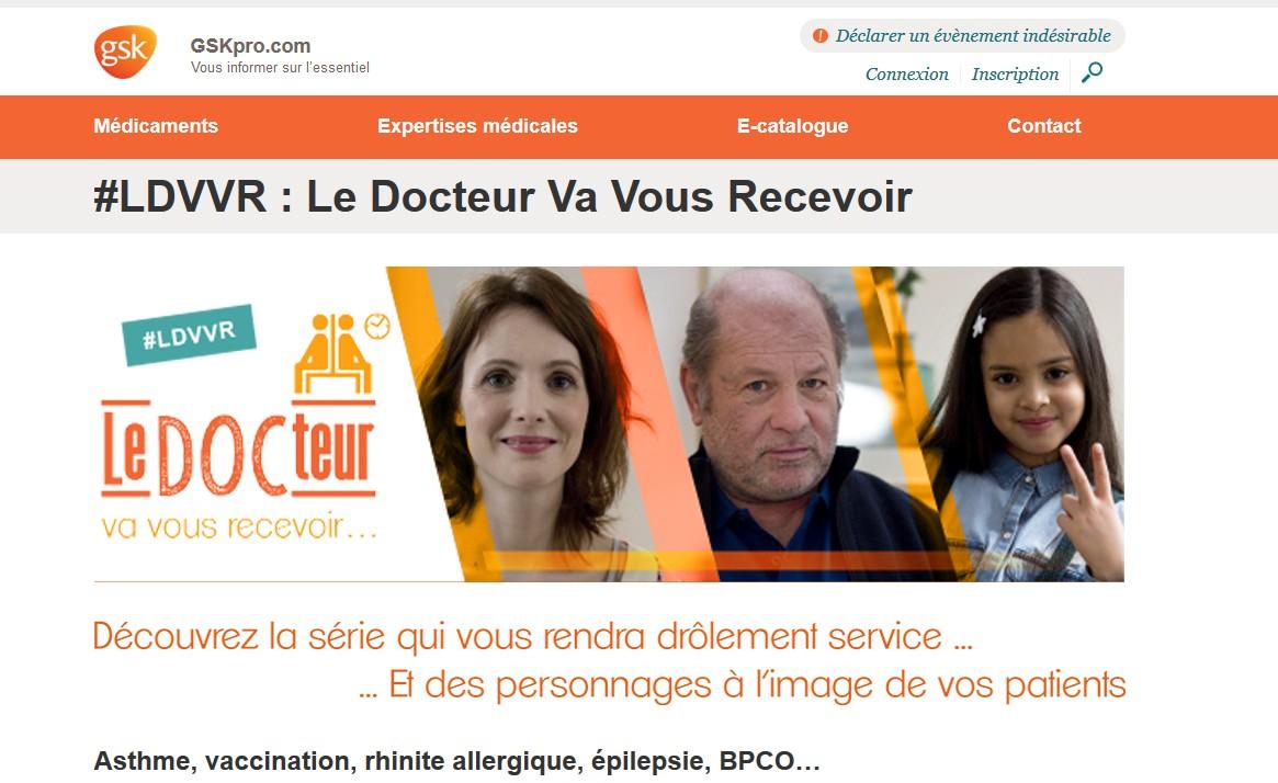u00bb gsk lance la web s u00e9rie  u00ab le docteur va vous recevoir