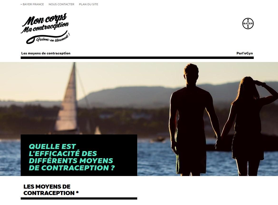 """Bayer présente le site """"Mon Corps ma Contraception"""""""