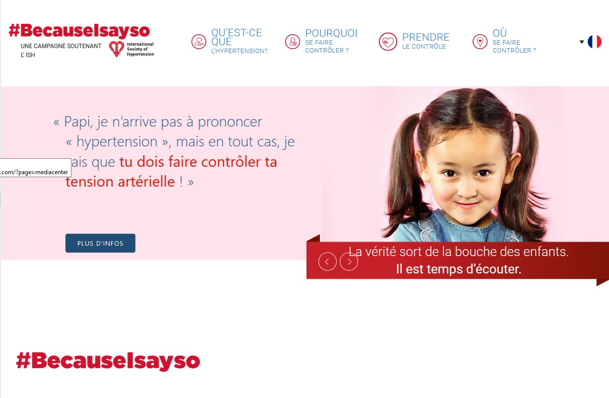 Hypertension : Servier lance la 2ème édition de la campagne « Because I Say So »