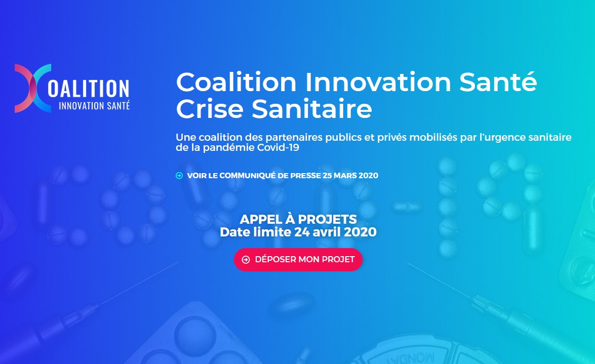 Covid-19 : la Coalition Innovation Santé lance un appel à projets