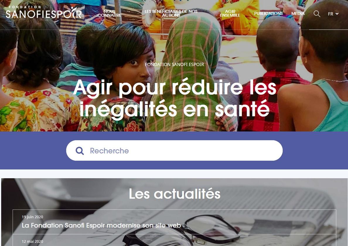 La Fondation Sanofi Espoir modernise son site web