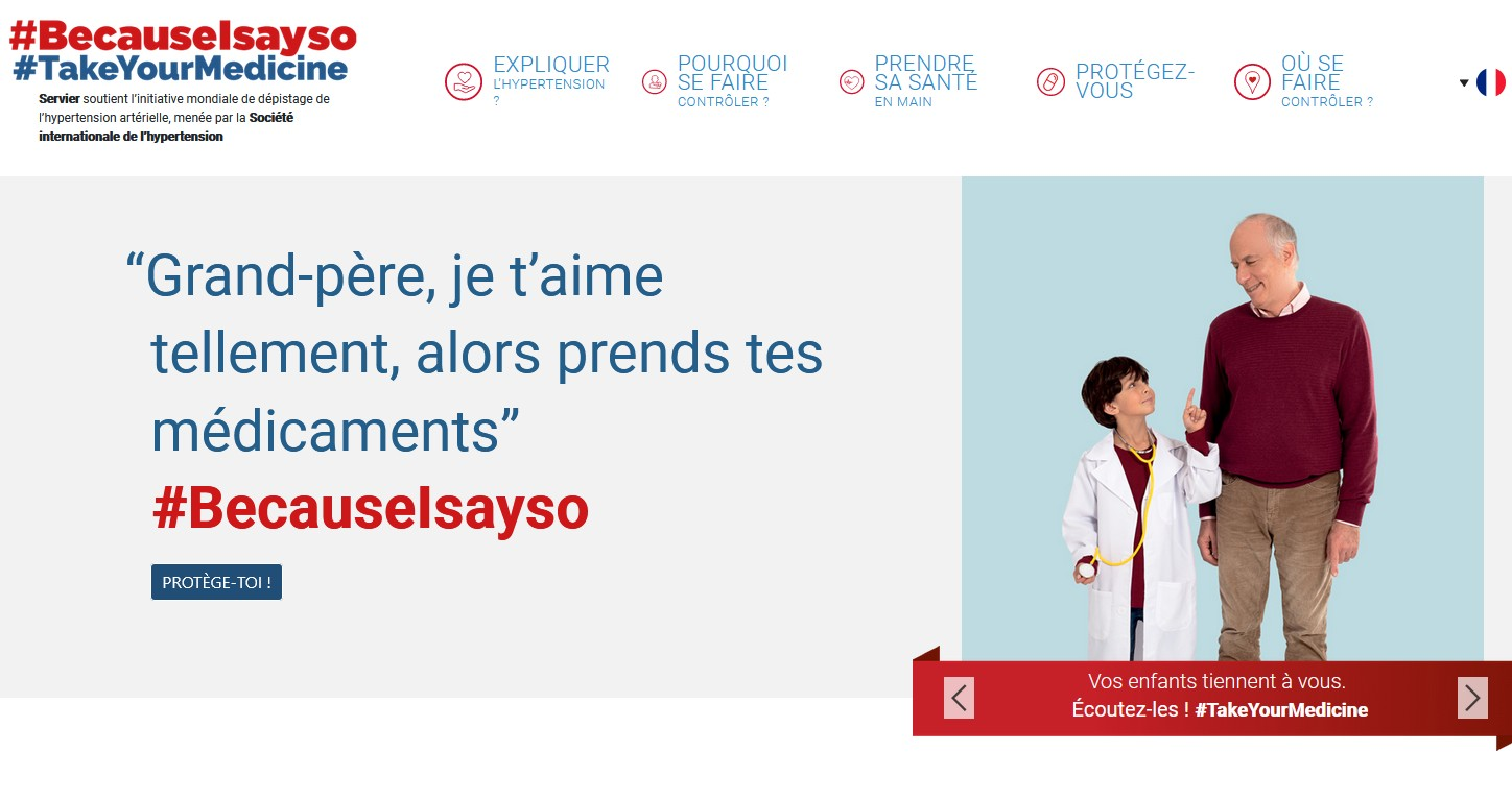 Hypertension : Servier lance une nouvelle édition de sa campagne grand public « Because I Say So »