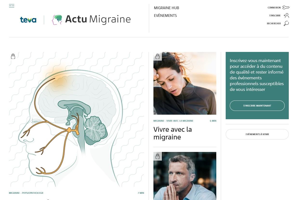 Teva Santé lance Actu-Migraine.fr, une plateforme pour les professionnels de santé